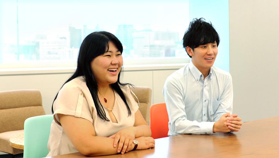▲人事部 人材・組織開発室 平山 悠氏(写真左)、吉岡 恵太氏(写真右)